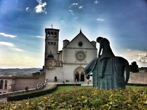 Assisi, chiesa di San Francesco per la visita di papa Francesco