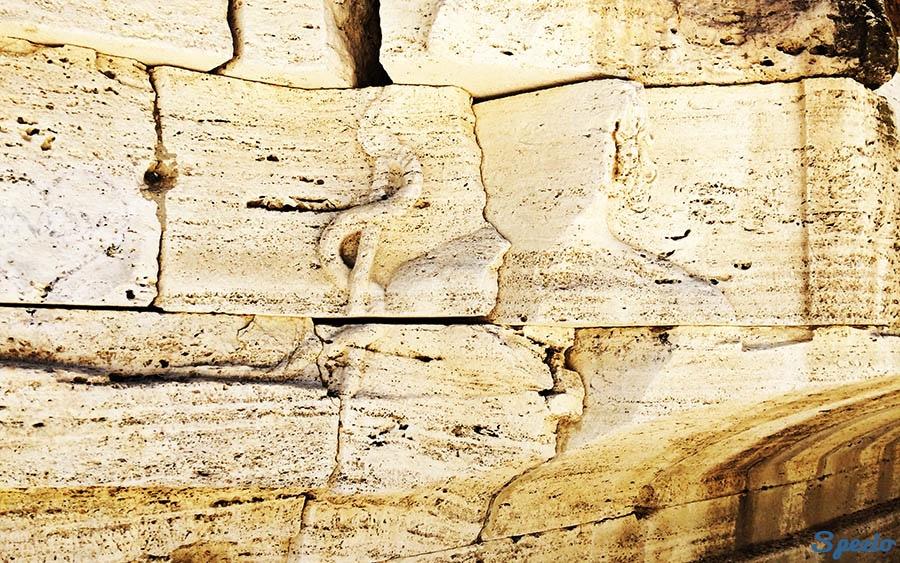 Isola Tiberina altorilievo del bastone di Esculapio