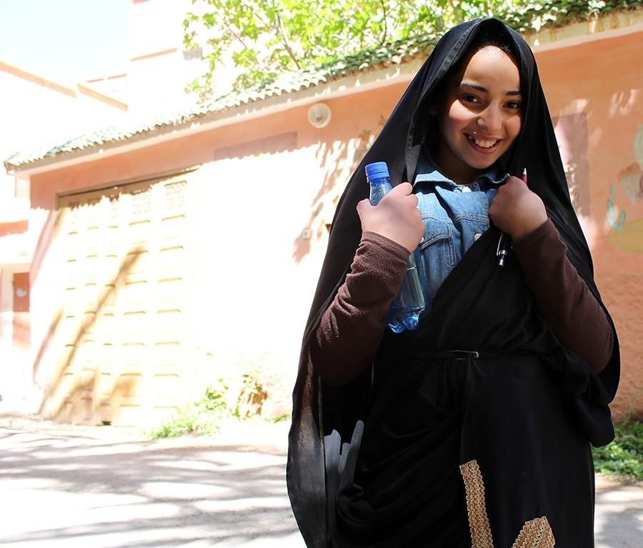 I feel Marocco studentessa sorridente