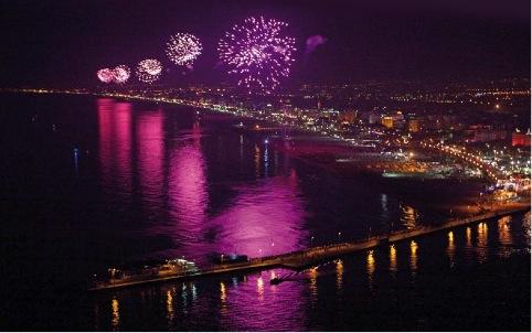 Notte Rosa 2014 fuochi d'artificio