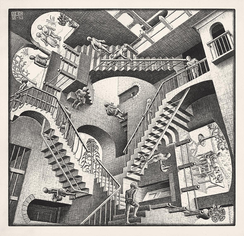 Escher Roma Chiostro del Bramante