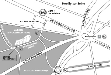 mappa fondation louis vuitton