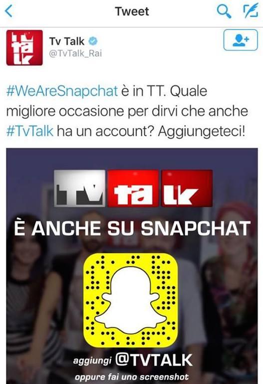 TvTallk Snapchat