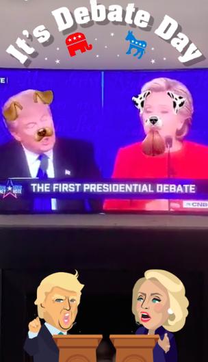 Elezioni usa 2016 Snapchat